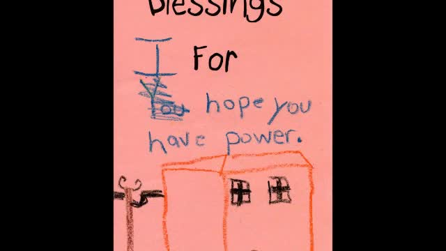Blessings from UU Children for those affected by Sandy