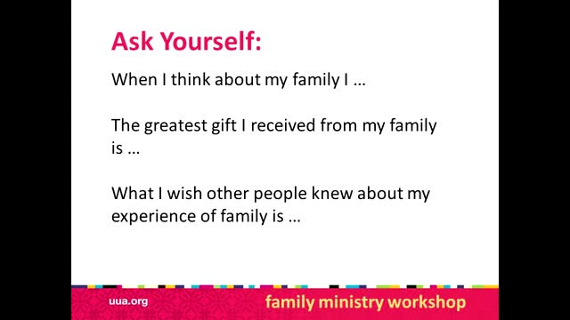 Family Ministry Introductory video