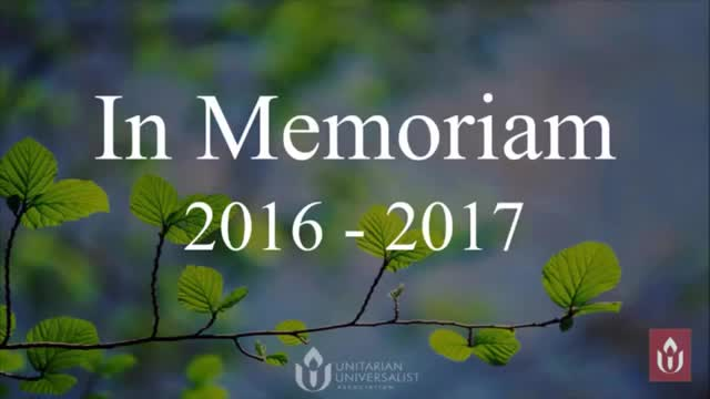 GA2017 #303 Clip - In Memoriam
