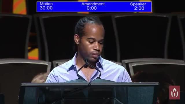 GA2017 #506 Clip - Responsive Resolution Debate and Vote