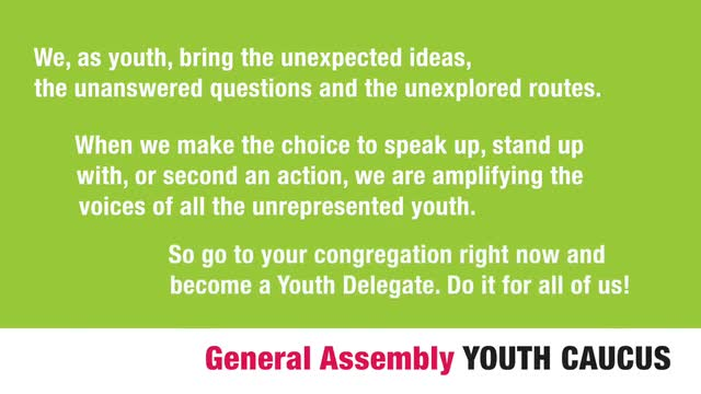 General Assembly Youth Caucus Showreel