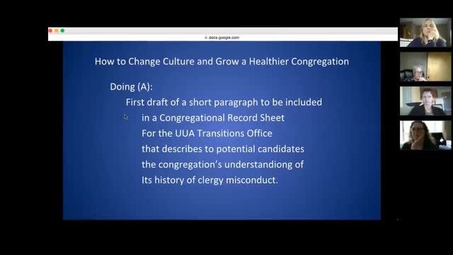 Serving Congregations with a History of Misconduct - Online Course,  Session 6