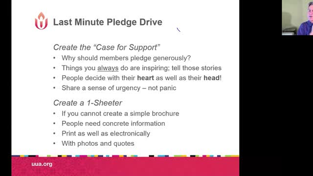 SR Planning Your Pledge Drive Late
